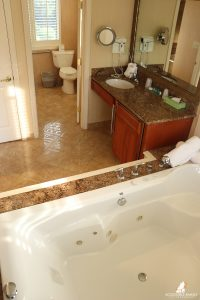 Meadowmere Resort ADA room with both tub and roll-in shower option